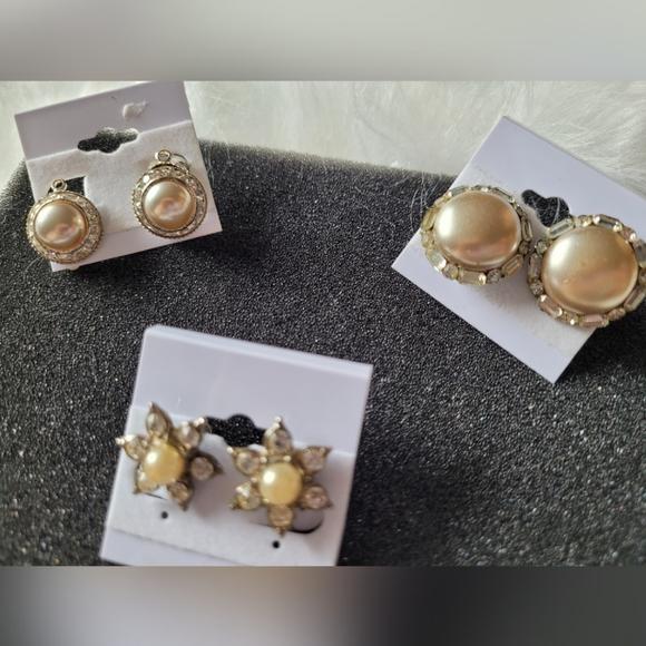 Lot 3 Pairs Vintage Earrings